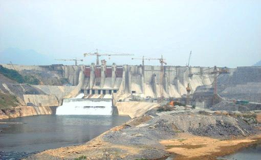 Toàn cảnh Thủy điện Tuyên Quang trong giai đoạn hoàn thành