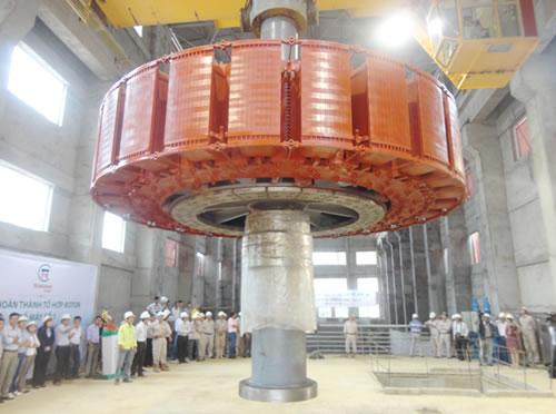 Lễ thả Rotor tổ máy số 1 Thủy điện Đồng Nai 2.